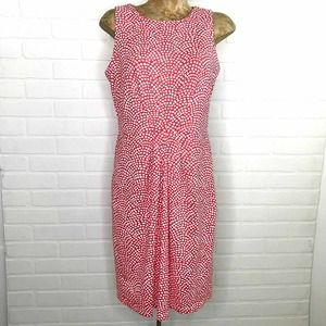 J. McLaughlin Sheath Dress M Polka Dot Sleeveless